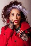 Beautiful young fashin woman Royalty Free Stock Photography