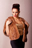 Beautiful young fashin woman Royalty Free Stock Photos