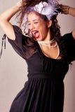 Beautiful young fashin woman Stock Photography