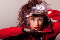 Beautiful young fashin woman Stock Photos
