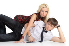 Beautiful young Fashion couple Stock Photos