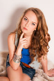 Beautiful young fashion girl teenager. Stock Images