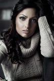 Beautiful young fashion model. Stock Image