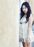 Beautiful young fashion model Stock Photos