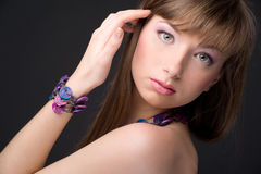 Beautiful young fashion model Stock Photos