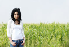 Beautiful young  fashion model Stock Photography