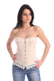 Beautiful young fashion model wearing corset Royalty Free Stock Photo