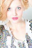 Beautiful young fashion sexy sensual woman closeup portrait Royalty Free Stock Images