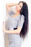 Beautiful young fashion sexy sensual woman closeup portrait Royalty Free Stock Image