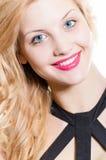 Beautiful young fashion sexy sensual woman closeup Stock Images