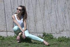 Beautiful young  fashion woman Stock Photo