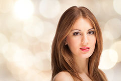 Beautiful young fashion woman portrait Royalty Free Stock Images