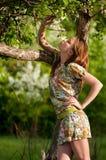 Beautiful young fashion woman posing outdoor Royalty Free Stock Photos