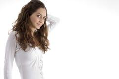 Beautiful young fashionable girl posing Stock Photos