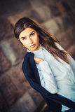 Beautiful young fashionable girl Stock Images