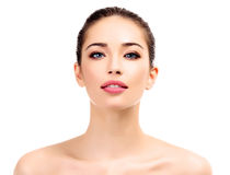 Beautiful young female with clean fresh skin Royalty Free Stock Images