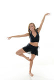 Beautiful young female dancer - pose Royalty Free Stock Photos