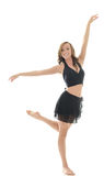 Beautiful young female dancer - pose Royalty Free Stock Image