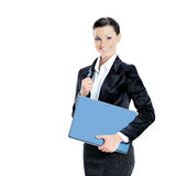 Beautiful young female entrepreneur holding laptop Stock Photography