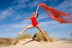Beautiful young female exercis stock image