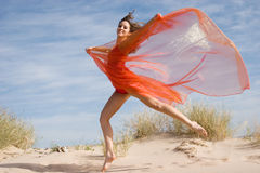 Beautiful young female exercising Royalty Free Stock Images