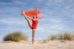 Beautiful young female exercising Stock Photos