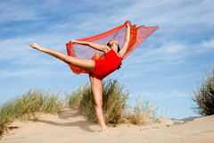 Beautiful young female exercising Stock Image