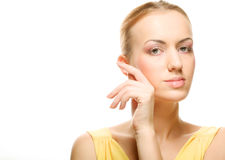 Beautiful young female face Stock Image