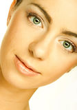 Beautiful young female face Royalty Free Stock Images