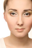 Beautiful young female face Royalty Free Stock Image