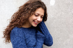 Beautiful young female model smiling Royalty Free Stock Photos