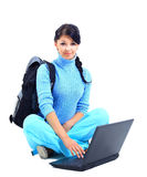 Beautiful young female student Stock Photography
