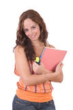 Beautiful young female student Royalty Free Stock Photography