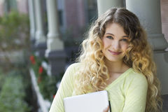 Beautiful young female student Stock Images
