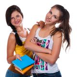 Beautiful young female students Stock Photography