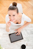 Beautiful young female working Stock Photography