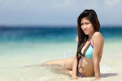 Beautiful young Filipina woman at Stock Image