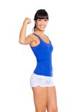 Beautiful young fitness traine Stock Photos