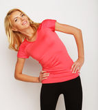 Beautiful young fitness trainer Stock Image