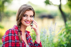 Beautiful young garden manager Stock Photography