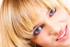 Beautiful young girl. The blonde with blue eyes Royalty Free Stock Photos