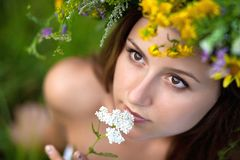 Beautiful young girl Royalty Free Stock Images