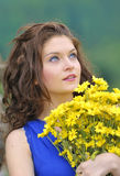 A beautiful young girl Stock Images