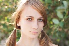 Beautiful young girl Stock Photos