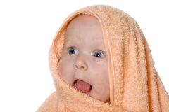 Beautiful young girl  after the bath Stock Image