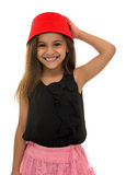 Beautiful Young Girl With Beautiful Smile Wearing a Fez Stock Photo