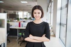 Beautiful young girl chairman Stock Photography
