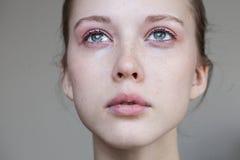 Beautiful Young Girl Crying Stock Photos