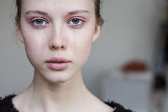 Beautiful Young Girl Crying Stock Photography