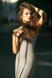 Beautiful young girl with curly hair Royalty Free Stock Photo